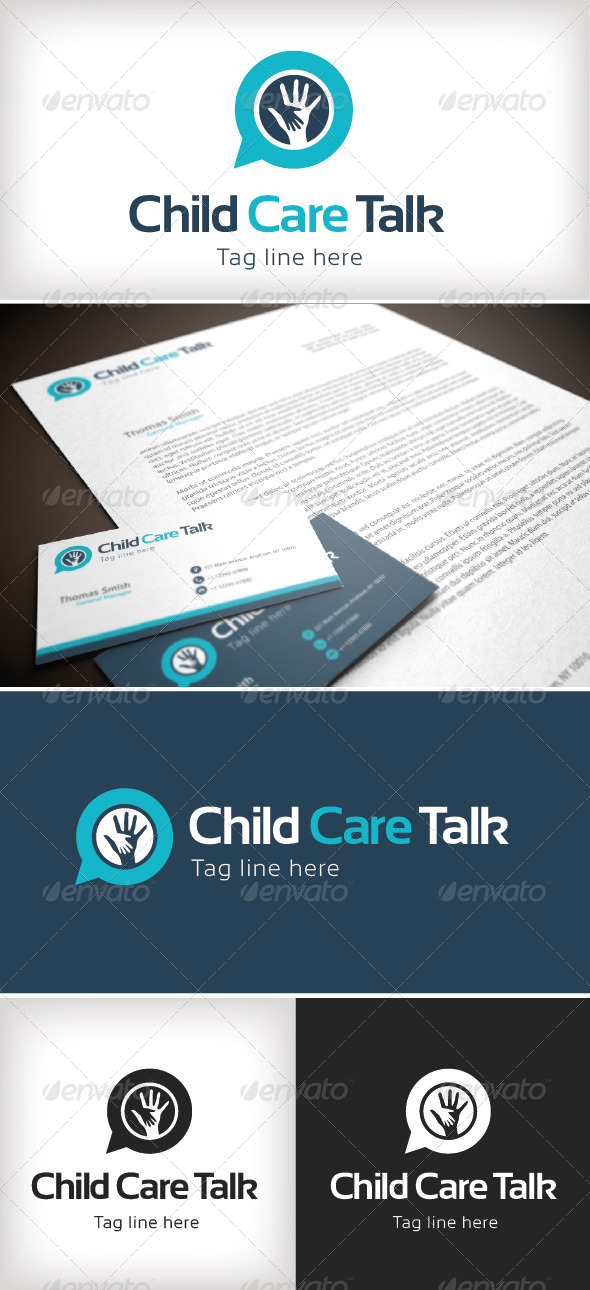 GraphicRiver Child Care Talk 8422814