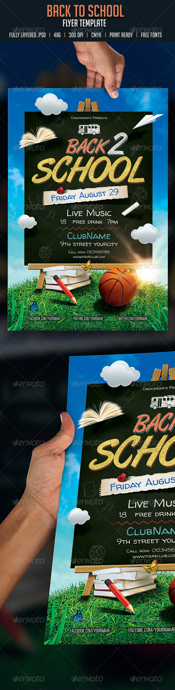 GraphicRiver Back to School Flyer 8416785