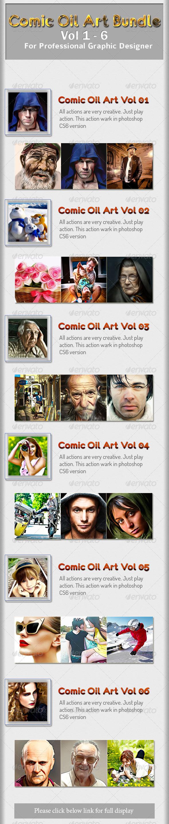 GraphicRiver Comic Oil Art Bundle Vol 1 to 6 8422878