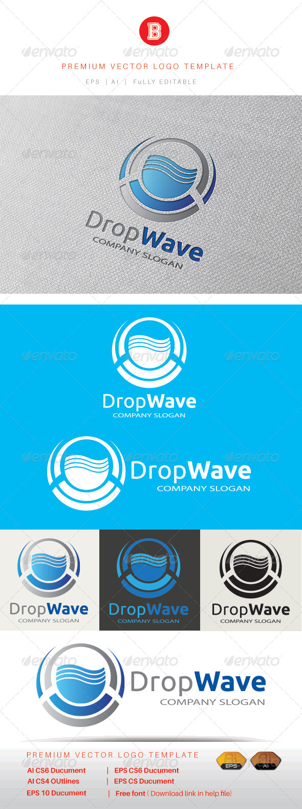 GraphicRiver Drop Wave 8422879
