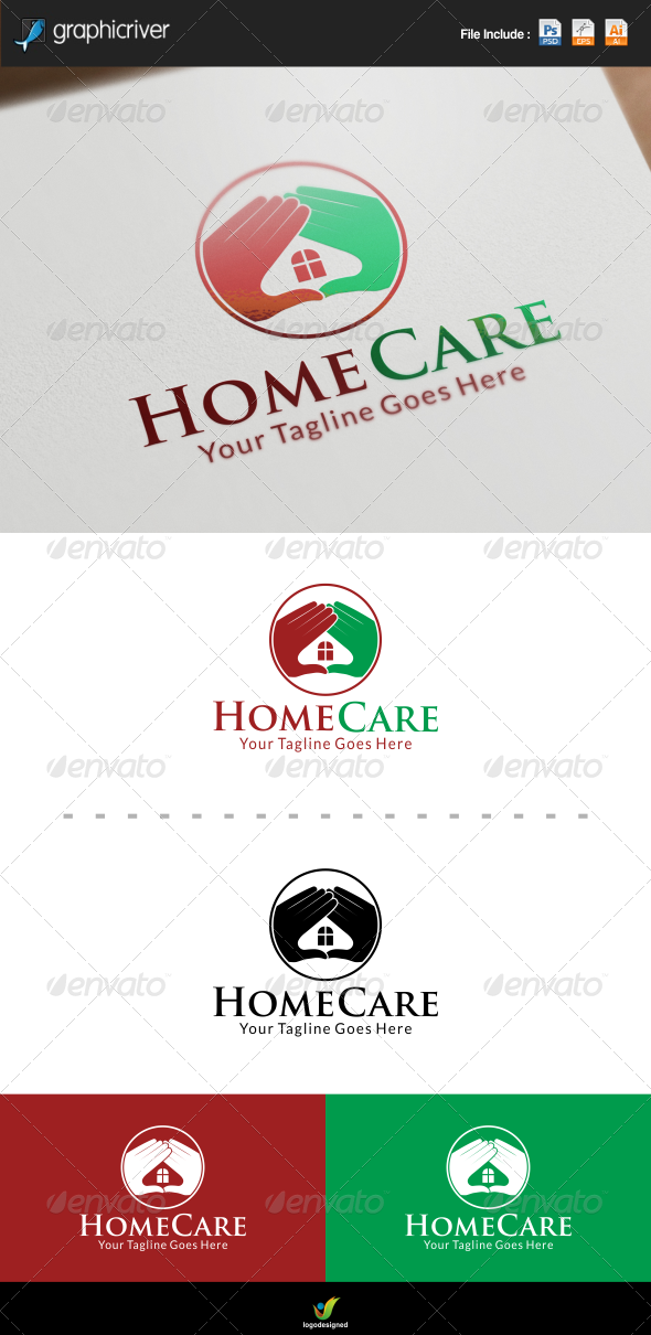 GraphicRiver Home Care Logo 8422920