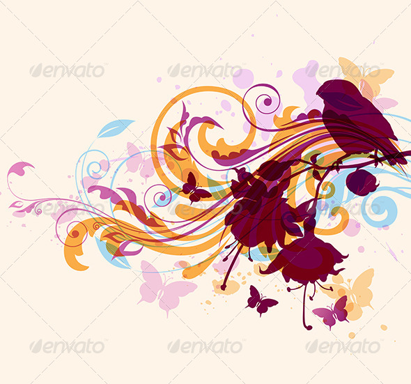 GraphicRiver Abstract Background with Bird 8422959