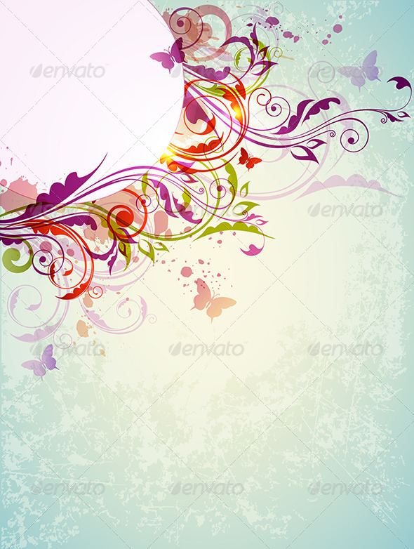 GraphicRiver Abstract Floral Background 8423051