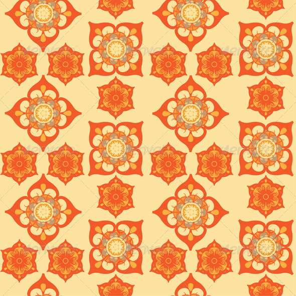 GraphicRiver Flowers Seamless Pattern 8423080