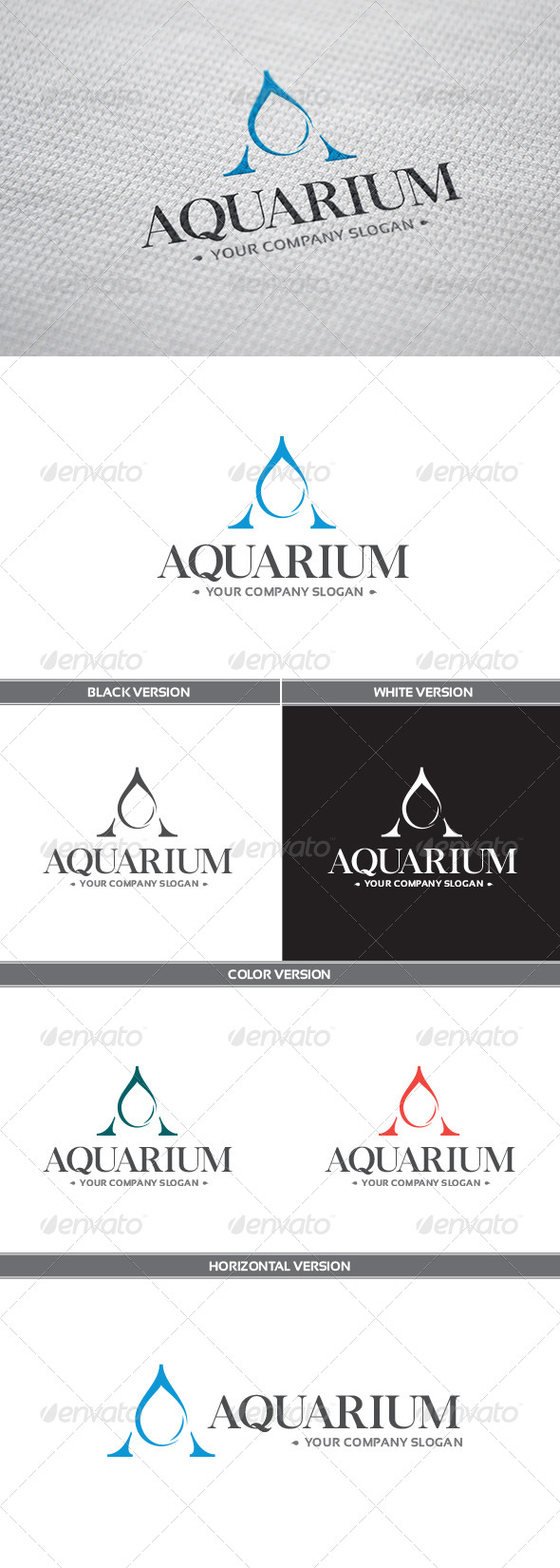 GraphicRiver Aquarium Logo 8423189