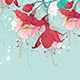 Abstract Green Background with Red Flowers - GraphicRiver Item for Sale