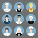 Professions Avatar Flat Icons Set - GraphicRiver Item for Sale
