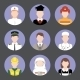 Professions Avatar Flat Icons Set