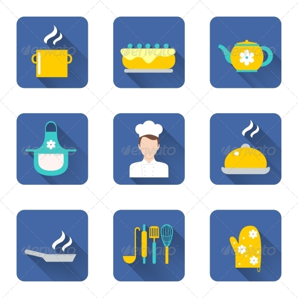 GraphicRiver Cooking Icons Set 8423350 Created: