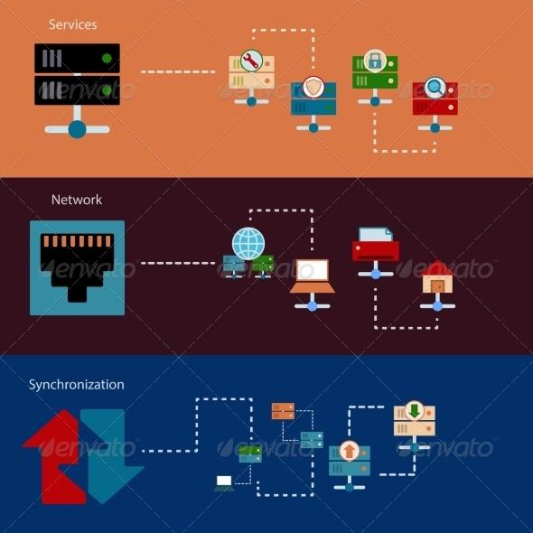 GraphicRiver Hosting Server Banners 8423357