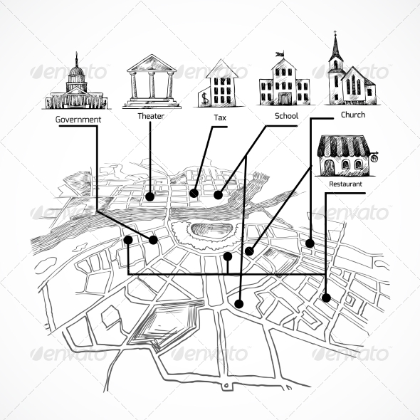 GraphicRiver Information City Map 8423364