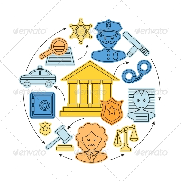 GraphicRiver Law and Justice Concept 8423367