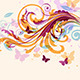 Abstract Floral Background with Butterflies - GraphicRiver Item for Sale