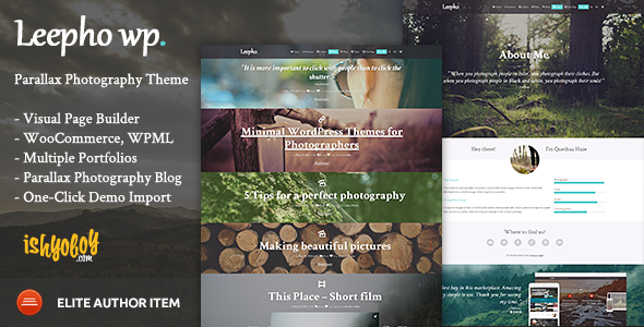 ThemeForest Leepho WP Parallax Photography Theme 8391050