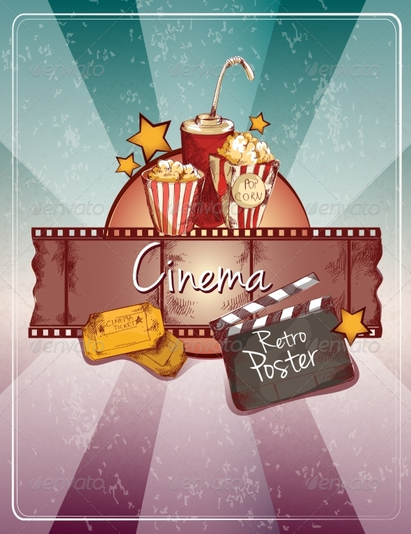 GraphicRiver Sketch Cinema Poster 8423393