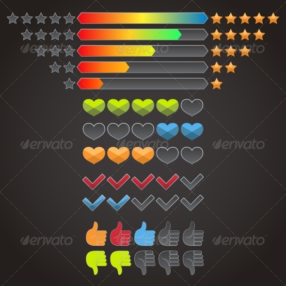 GraphicRiver Colorful Rating Icons Set 8423399