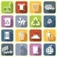Garbage Icons Flat - GraphicRiver Item for Sale