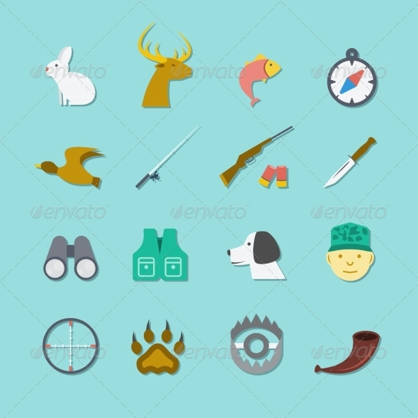 GraphicRiver Set of Hunting Icons 8423403