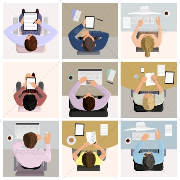 GraphicRiver Business Office Workers 8423411