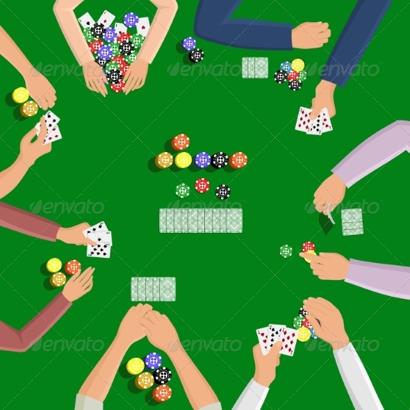 GraphicRiver People Playing in Poker 8423412