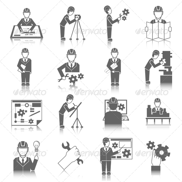 GraphicRiver Set of Engineer Icons 8423418