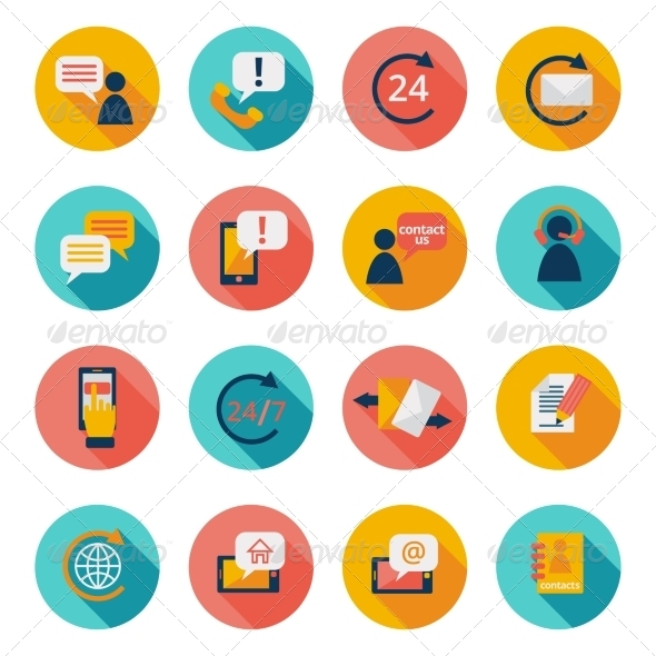 GraphicRiver Contact Us Icons 8423453