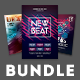 Electro Party Flyer Bundle Vol.06 - GraphicRiver Item for Sale