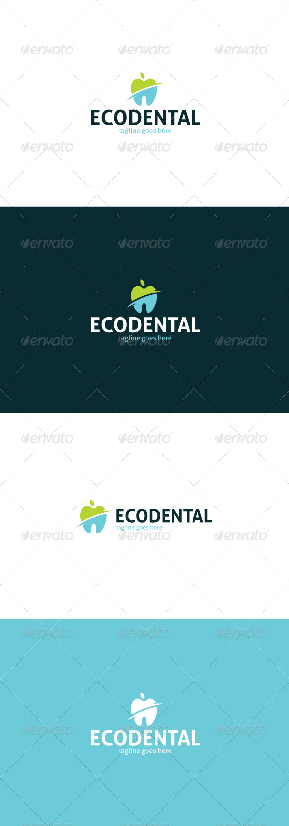 GraphicRiver Eco Dental Logo 8423722