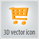 3d vector icon. Shop