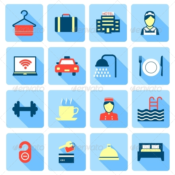 GraphicRiver Set of Hotel Icons 8423798