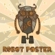 Hipster Robot Design - GraphicRiver Item for Sale