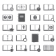 Books and Symbols Icons Set