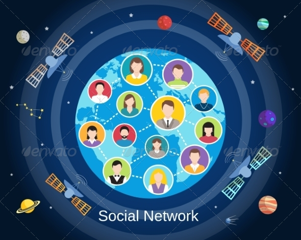 GraphicRiver Global Social Network Concept 8423824