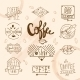 Vintage Retro Coffee Labels - GraphicRiver Item for Sale