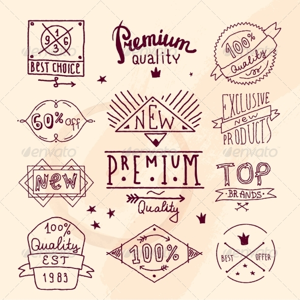 GraphicRiver Premium Retro Quality Emblem 8423846