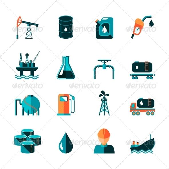 GraphicRiver Oil Industry Icons 8423848