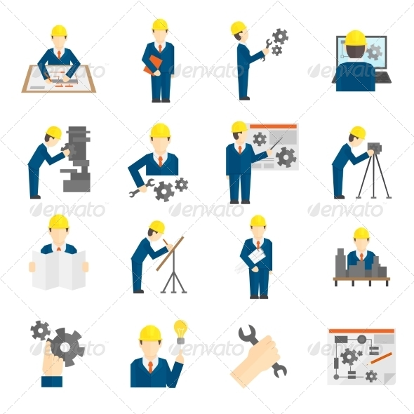 GraphicRiver Set of Engineer Icons 8423856