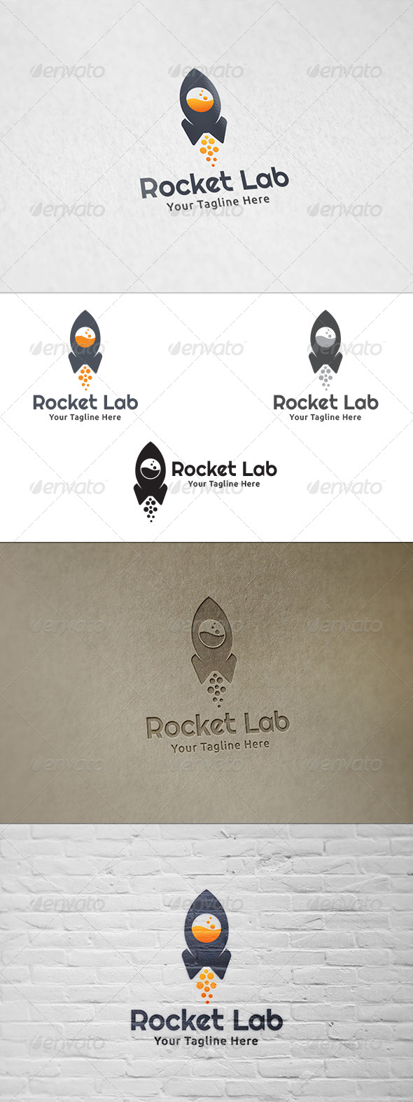 GraphicRiver Rocket Lab Logo Template 8423857
