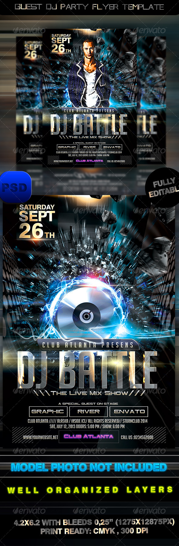 GraphicRiver Guest Dj Party Flyer Template 8423875