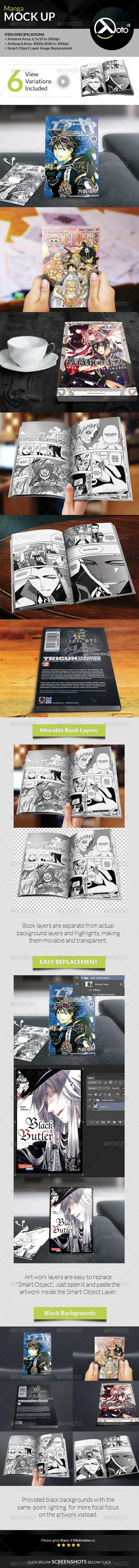 GraphicRiver Manga Japanese Comics Mock up 8423940