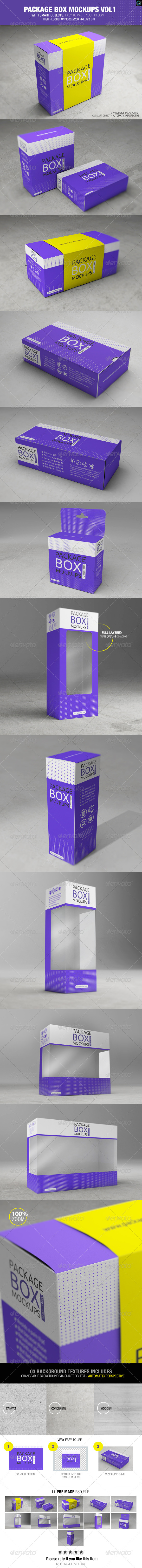 GraphicRiver Package Box Mockups Vol1 8424020