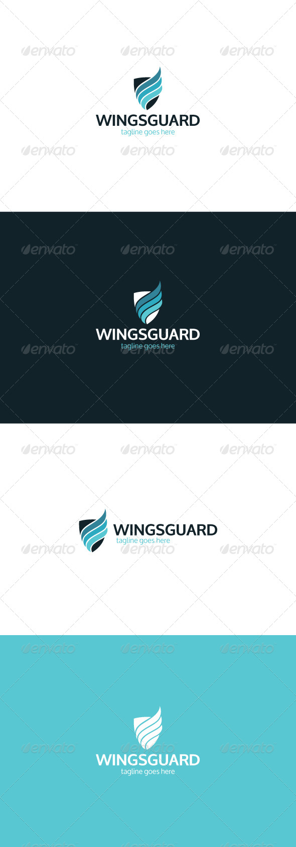 GraphicRiver Wings Guard Logo 8424026