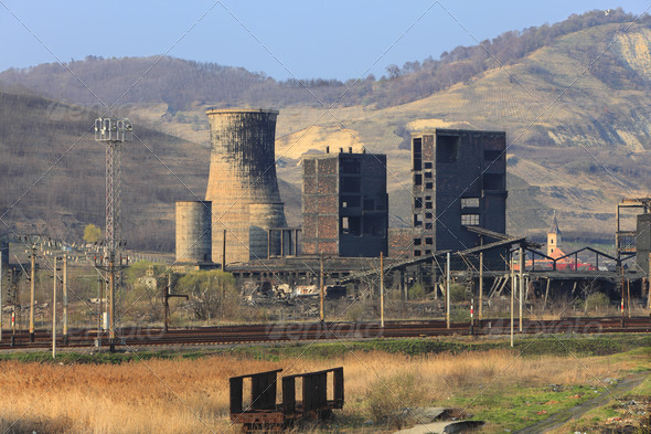 Heavy Industry Ruins  - Stock Photo - Images