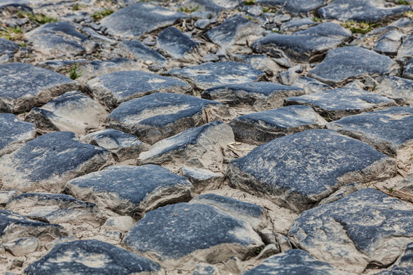 Cobbled Road - Detail - Stock Photo - Images