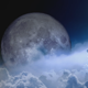 Clouds And The Moon - VideoHive Item for Sale