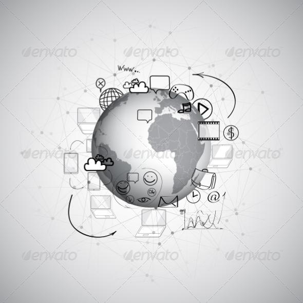 GraphicRiver World Doodle Design 8424238