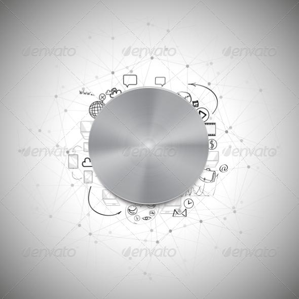 GraphicRiver Power Doodle Button 8424240