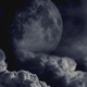 Dark Clouds And The Moon - VideoHive Item for Sale