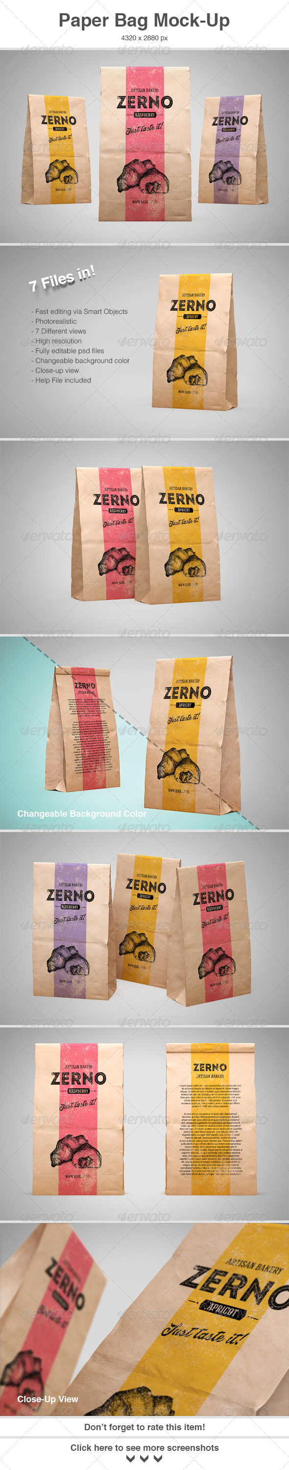 GraphicRiver Paper Bag Mock-Up 8424278