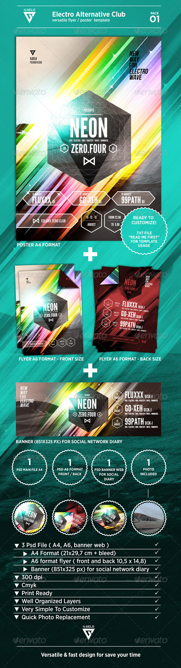 Electro Alternative Club Poster Pack 01
